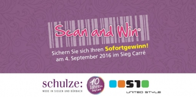 We are open!!! Heute: SCAN AND WIN!!